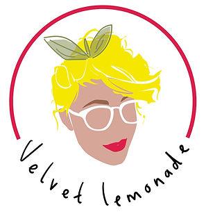 Velvet Lemonade logo with text.