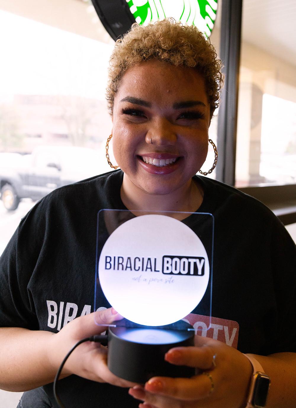 biracial woman branding session burlington massachusetts