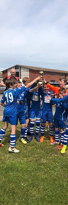 Larkhall Athletic U11s winning the Westfield Tournament