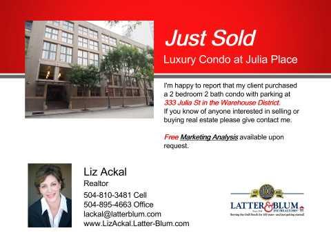 Sold Luxury Condo at Julia Place 333 Jul