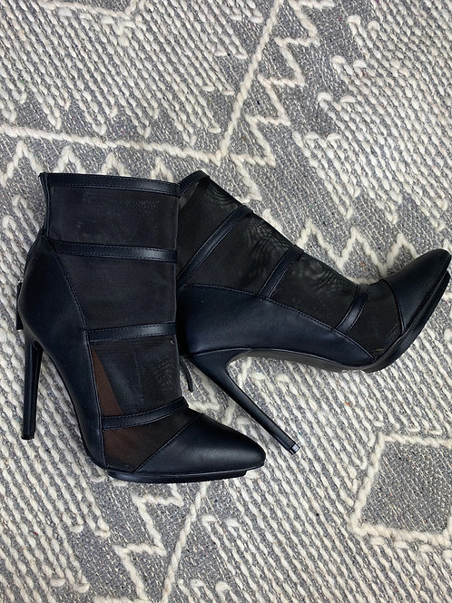 Black Mesh Ankle Boot - Shoe Cult SIZE 8