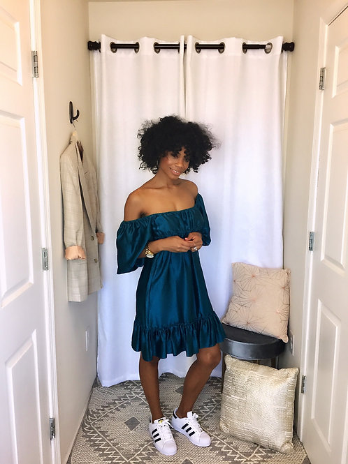 Betsy Johnson Satin Cocktail Dress SIZE S/M