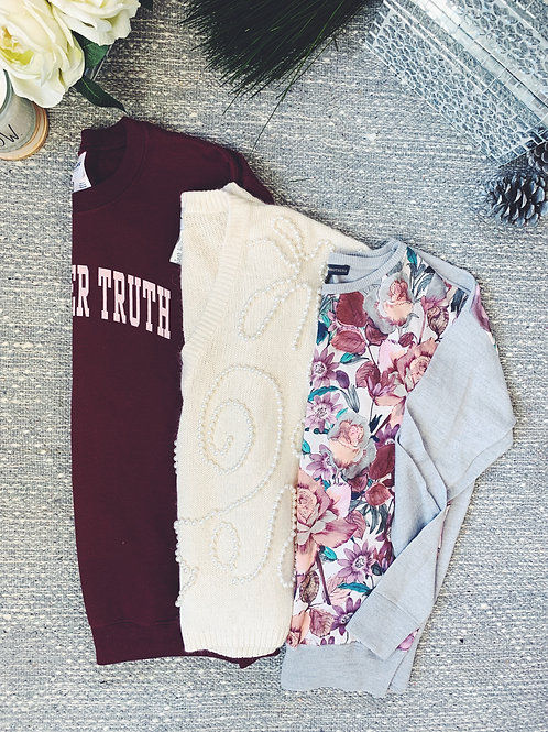 3 Sweater Bundle - SIZE S