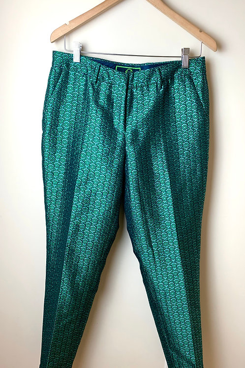 Green and Navy Trousers - SIZE 8