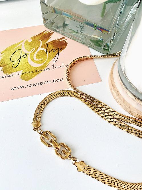 Vintage Givenchy Herringbone Necklace