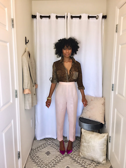 Pink Linen Trouser SIZE 6