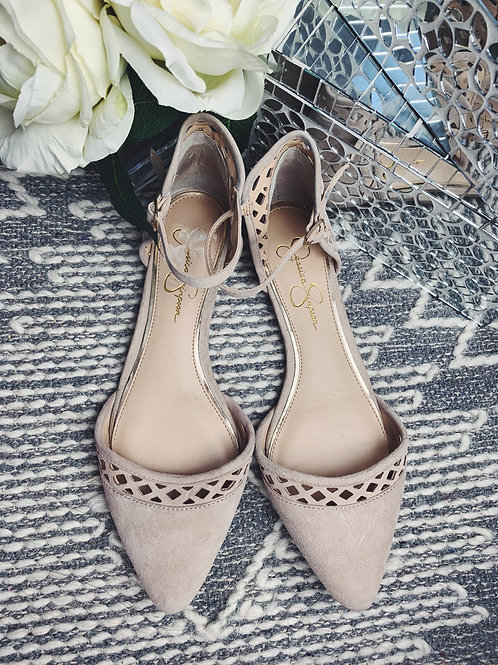 Beige Suede Flats - SIZE 9.5