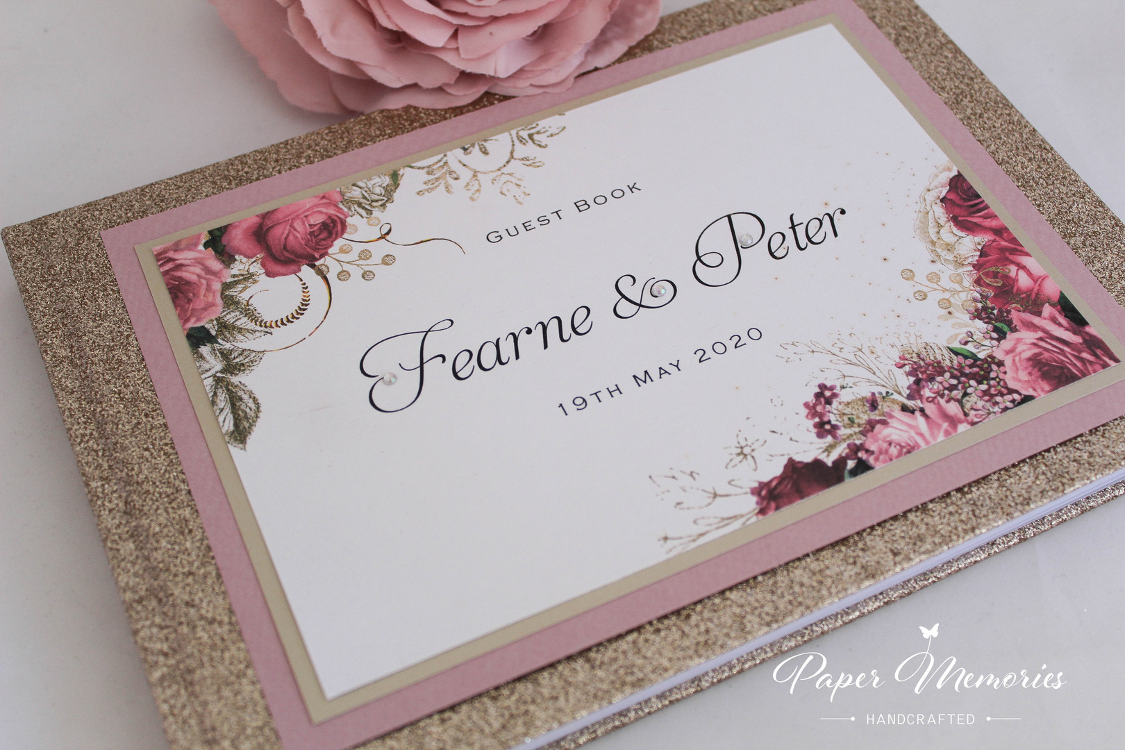 Glitter Books - Champagne & Dusky Pink (