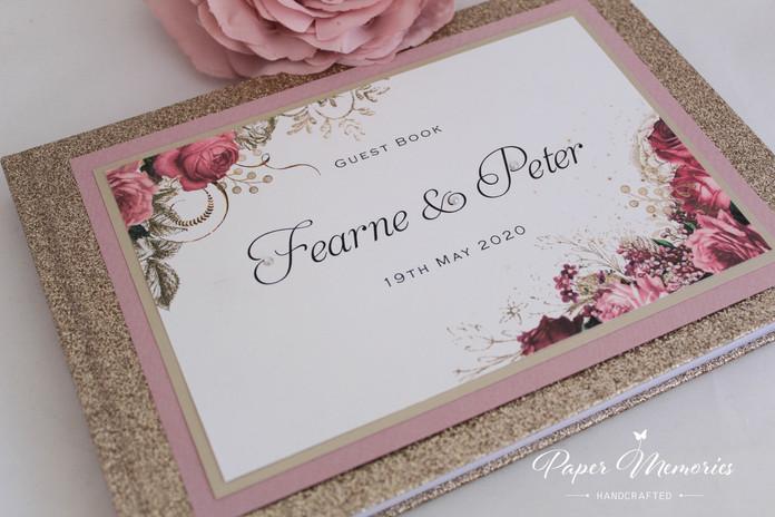 Glitter Books - Champagne & Dusky Pink (