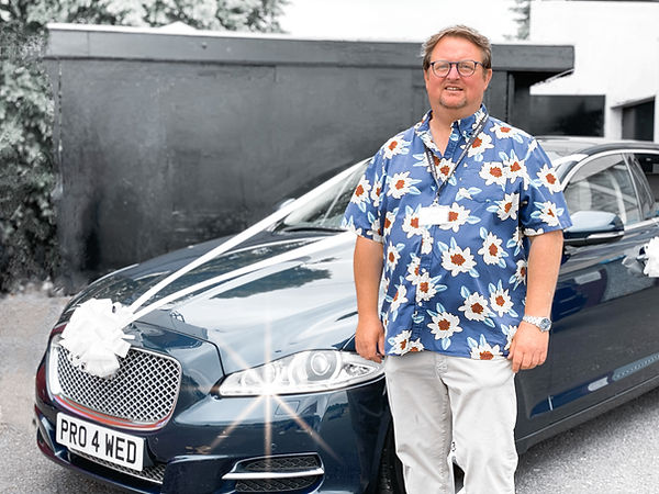 David Broadbent with Jaguar Wedding Car Hire Confetti Wedding Cars