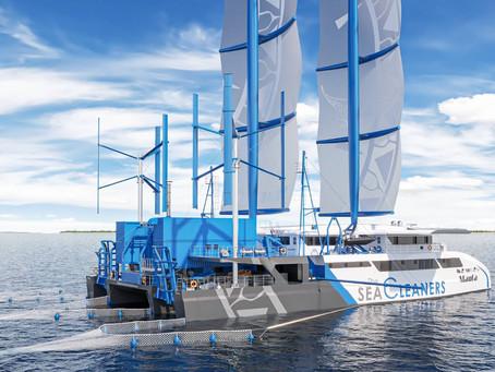 Yvan Bourgnon présente son futur bateau ramasseur de plastiques