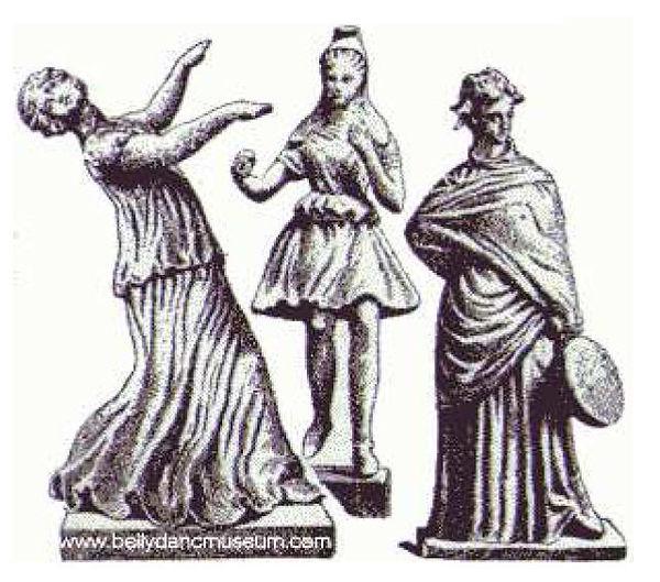 Statuettes de Tanagra : danse orientale