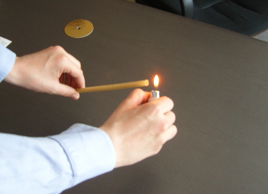 Light the hopi ear candle