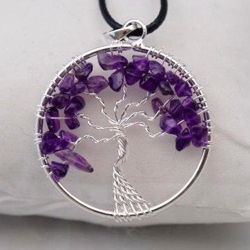 Tree of Life Pendant: Amethyst