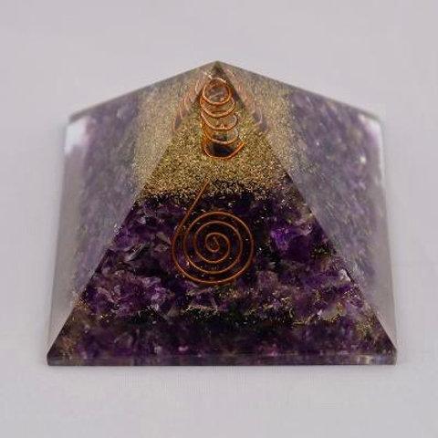 Amethyst: Orgone Pyramid