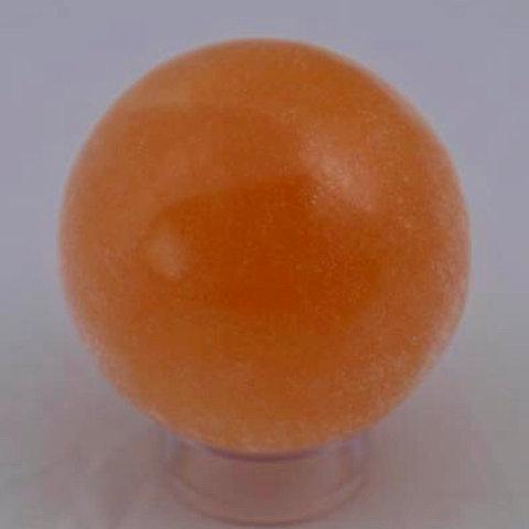 Selenite (Orange): Sphere