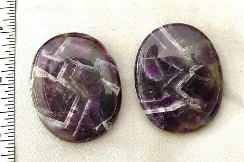 Fidget Stone: Chevron Amethyst