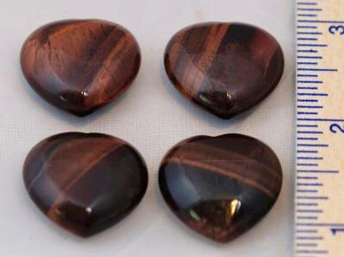 Red Tiger Eye: Hearts