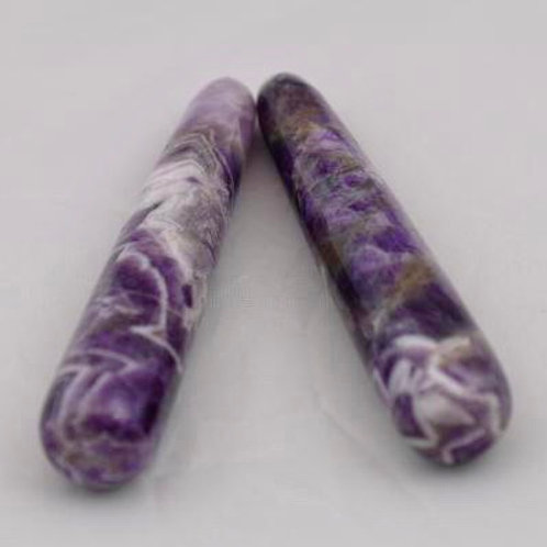 Chevron Amethyst: Rounded Wand