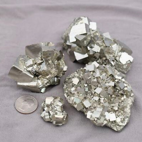 Pyrite: Cube Clusters (size range2 - larger)