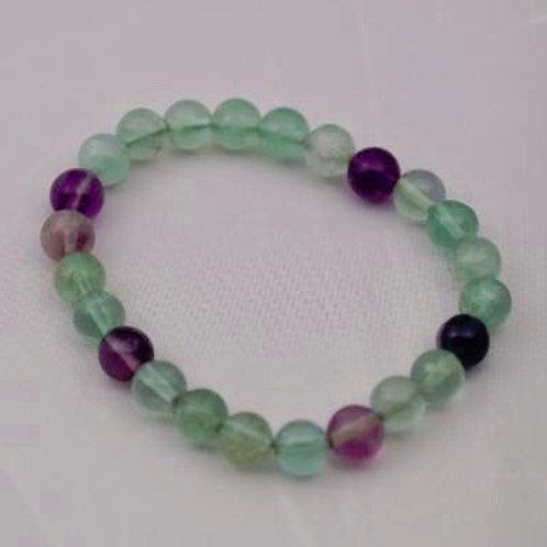 Fluorite (Rainbow): Bracelet