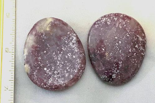 Lepidolite:  Fidget Stone