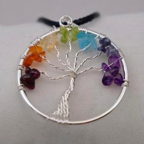 Tree of Life Pendant: 7-Chakra