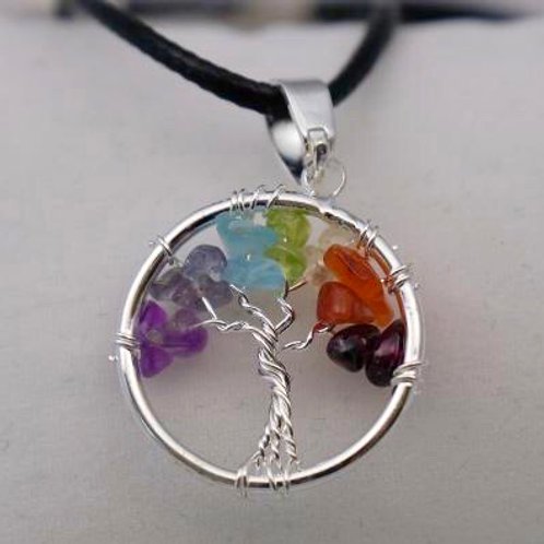 Tree of Life Pendant: 7-Chakra (small)