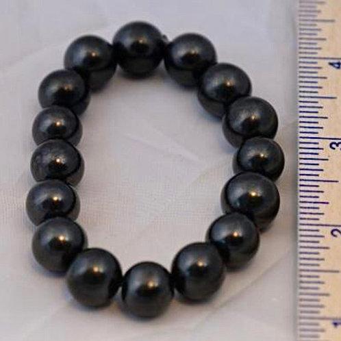Shungite: Bracelet (Petrovsky grade)