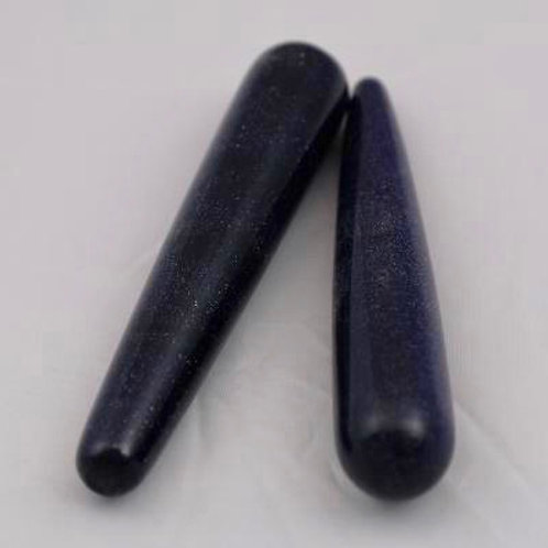 Goldstone (Blue): Rounded Wand