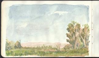 hula valley sketch 2016