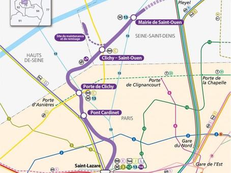 Immobilier du Grand Paris : Etape 1 ligne 14 Nord, de Pont Cardinet à Saint Denis