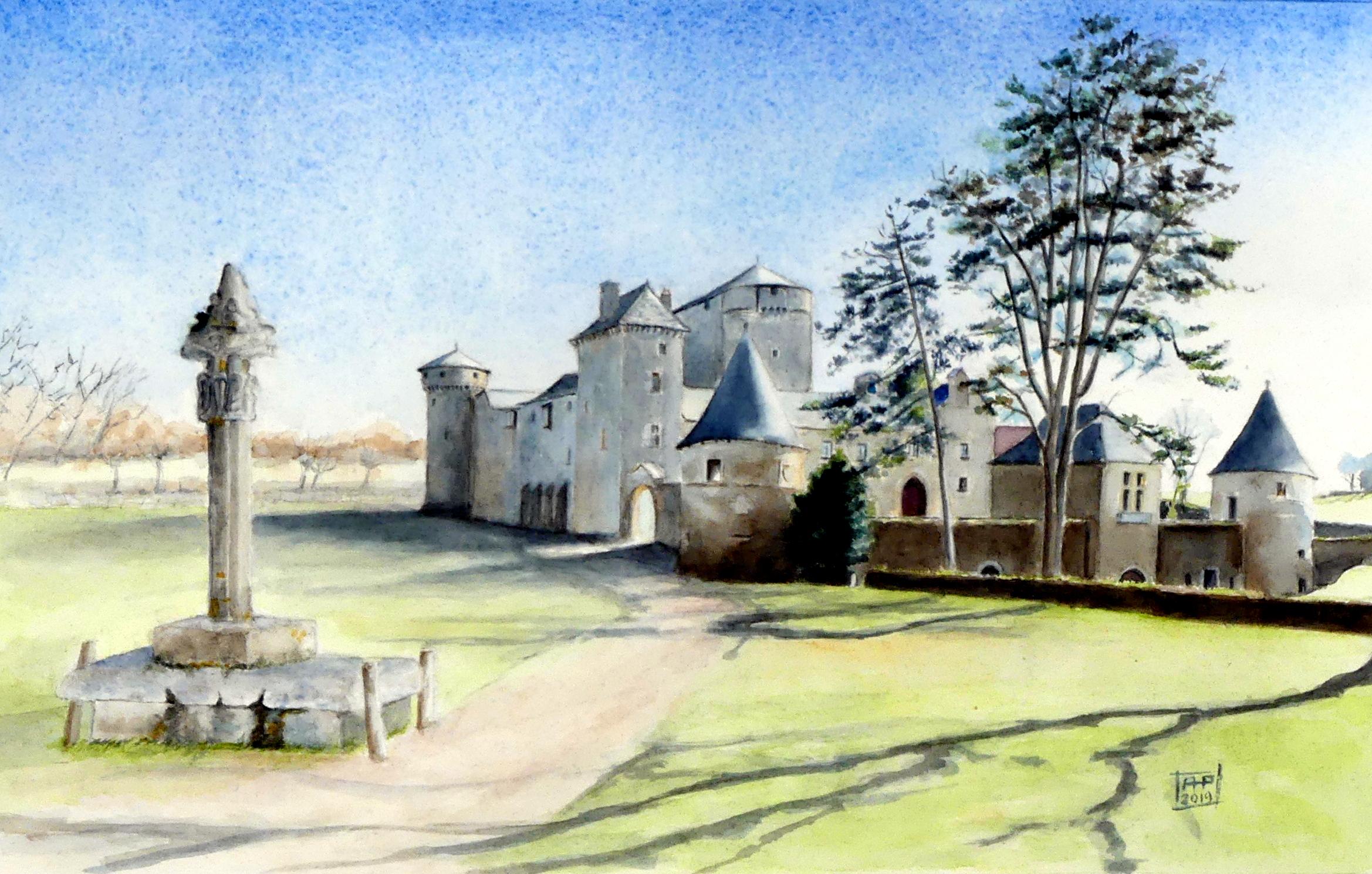 chateau monastique des Bourines