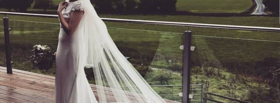 Jessica in her stunning veil