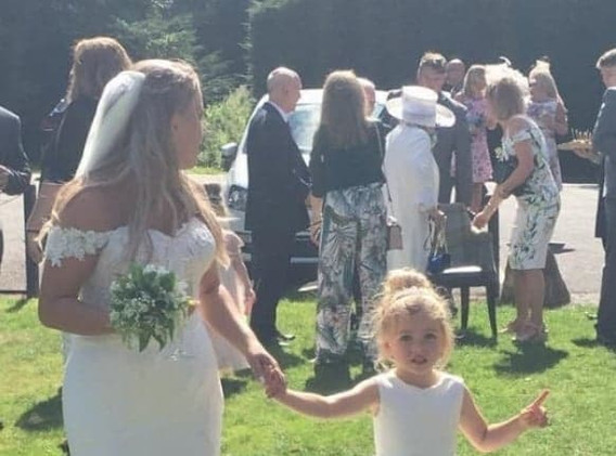 Jessica in St Patrick and Tiffany in one of our flowergirl dresses