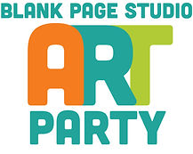 Blank Page Studio art party, kids art parties, East Bay kids birthday parties