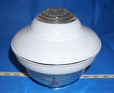 1940s Art Deco Light Fixture Globe