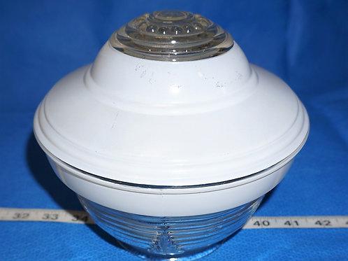 1940s Art Deco Light Fixture Globe