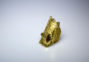 Gold Log ring