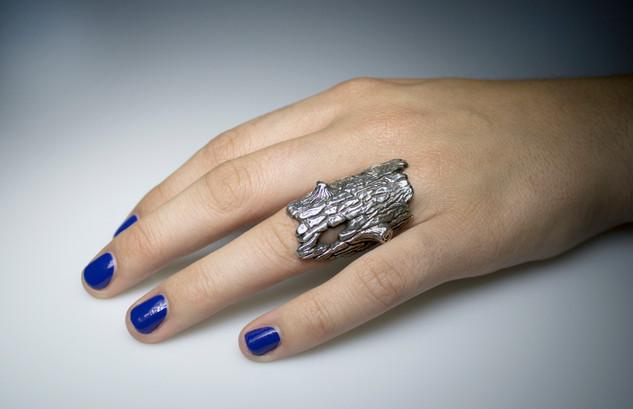 Silver Log ring