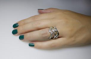 Silver Twig rings