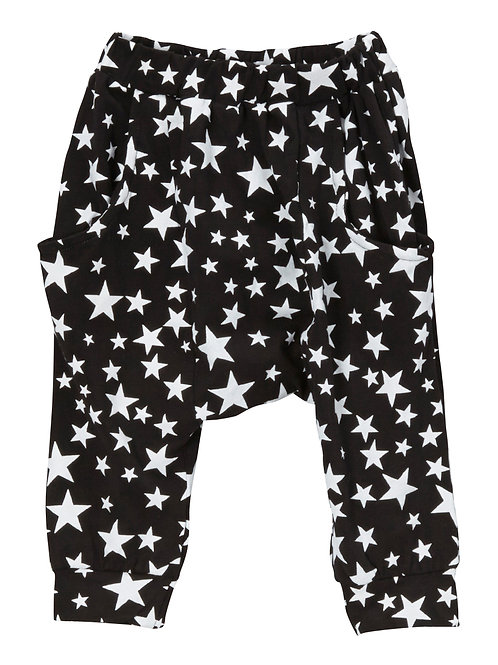 Black Stars Harem Pants - R