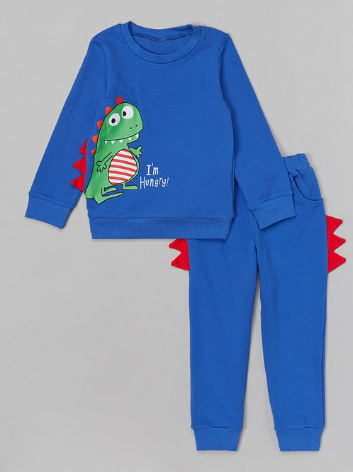 Blue Dino Sweatshirt & Pants -R