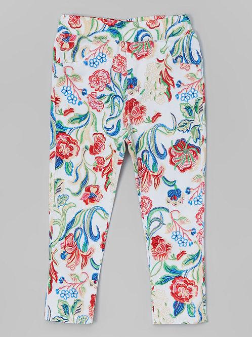 White Flower Pants -R