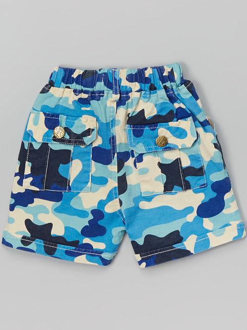 Blue Camo Shorts -R