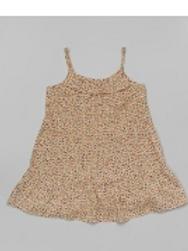 Beige Speckle Ruffle Dress -R