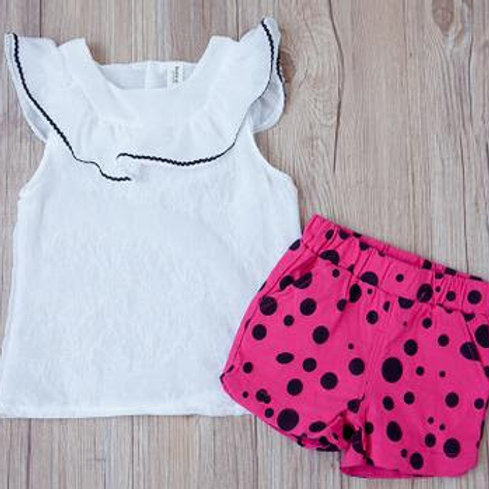Hot Pink Polka Dots, 2 pc. set
