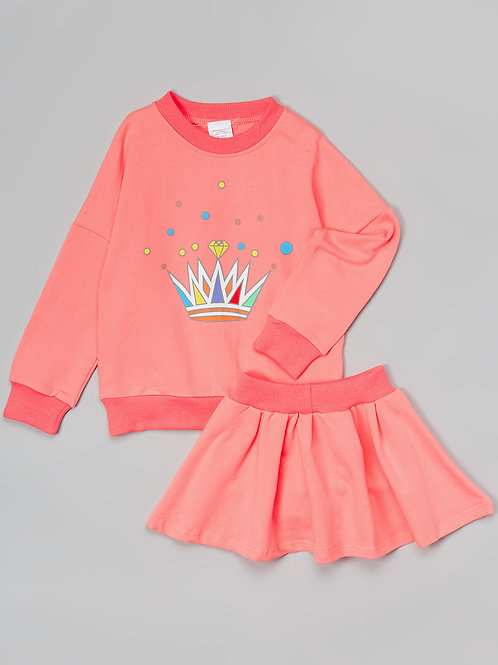 Pink Skirt Set -R