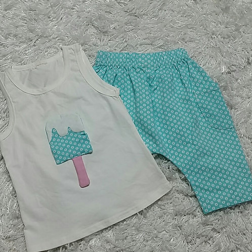 Blue Ice Cream 2 pc. Set