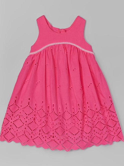 Pink Eyelet Dress -R